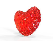 Форма сердца диаманта Стоковое Изображение