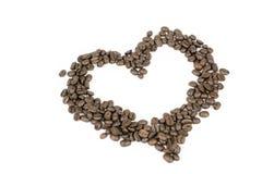форма сердца кофе фасолей Стоковая Фотография RF