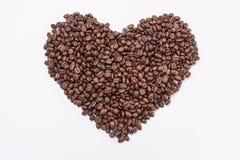 форма сердца кофе фасолей Стоковое Фото