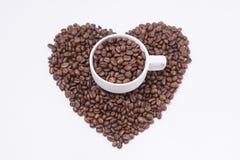 форма сердца кофе фасолей Стоковая Фотография