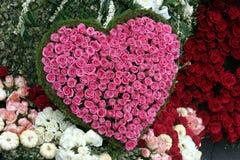 Форма сердца красного цвета розовая Стоковые Изображения RF