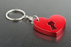 Форма сердца настоящего момента дня валентинки красная обманывает Стоковые Изображения