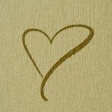 Форма сердца на поверхности песка Стоковое Изображение RF