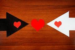 Форма сердца на стрелке Стоковые Фотографии RF