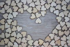 Форма сердца от естественного дерева Стоковые Изображения RF