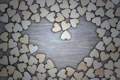 Форма сердца от естественного дерева Стоковое Изображение