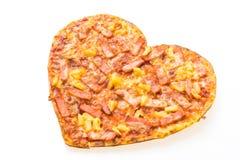 Форма сердца пиццы стоковое изображение rf