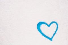 Форма сердца покрашенная на замороженном окне Стоковые Изображения RF