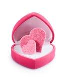 форма сердца подарка коробки Стоковая Фотография