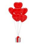 форма сердца подарка baloon Стоковое Изображение