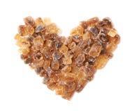 Форма сердца сделанная из сахара утеса Стоковые Фото