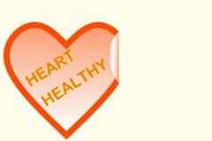Форма сердца с текстом сердца здоровым Стоковые Фото