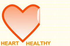 Форма сердца с текстом сердца здоровым Стоковая Фотография