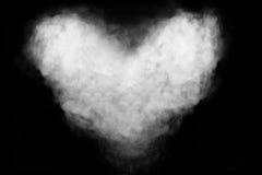 Форма сердца дыма Стоковая Фотография