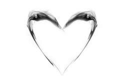 Форма сердца дыма Стоковое Изображение