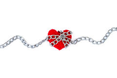 Форма сердца entwined с цепями Стоковое Фото