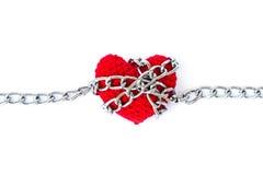 Форма сердца entwined с цепями Стоковые Фото