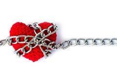 Форма сердца entwined с цепями Стоковые Изображения RF
