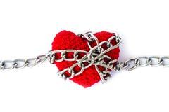 Форма сердца entwined с цепями Стоковое Изображение