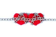 Форма сердца entwined с цепями Стоковое Изображение RF