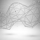 Форма сетки Wireframe полигональная абстрактная Стоковые Фотографии RF