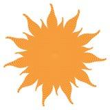 Форма Солнця с внутренними волнами силы Стоковая Фотография