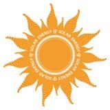 Форма Солнця с внутренними волнами силы Стоковое Изображение