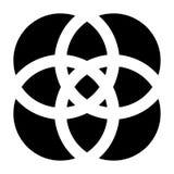 Форма с перекрывая мотивом кругов Геометрический пересекая cir иллюстрация штока