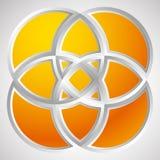 Форма с перекрывая мотивом кругов Геометрический пересекая cir бесплатная иллюстрация