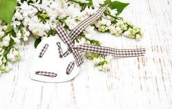 Форма цветков и сердец сирени Стоковая Фотография RF