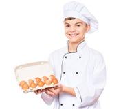 Форма шеф-повара предназначенного для подростков мальчика нося Стоковые Фото