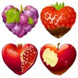 форма 2 сердец установленная Стоковое Изображение RF