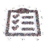 Форма 3d вопросника людей бесплатная иллюстрация