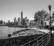Форма Jersey City горизонта Нью-Йорка Стоковое Изображение