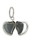 форма keychain сердца подарка Стоковые Изображения