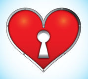 форма padlock замка сердца Стоковое Фото