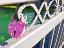 форма padlock замка сердца Стоковая Фотография