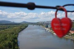 форма padlock замка сердца Стоковая Фотография RF