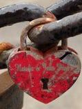 форма padlock замка сердца Стоковые Фото