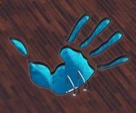 Форменная рука бассейна бесплатная иллюстрация