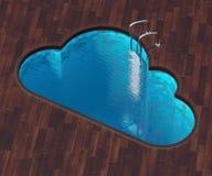 Форменное облако бассейна бесплатная иллюстрация