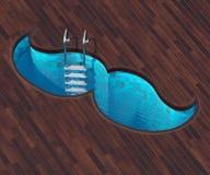 Форменный усик бассейна иллюстрация вектора