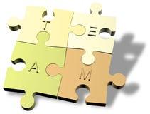 формировать зигзаг соединяет команду головоломки Стоковое Изображение RF
