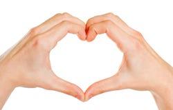 формировать сердце рук Стоковое Изображение RF