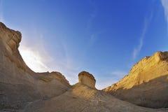 формирует заход солнца холмов рисуночный Стоковые Фотографии RF