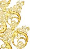 формирует золотистое органическое Стоковые Фото