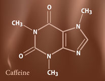 формула кофеина Стоковое фото RF