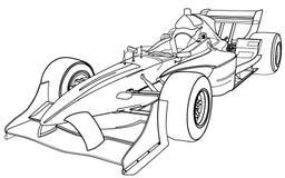 Формула-1 автомобиля иллюстрация штока