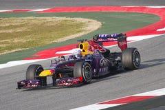 Формула 1 красный Bull RB9 Sebastian Vettel Стоковое фото RF