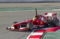Формула-1 объениняется в команду дни испытания на цепи Catalunya Стоковые Изображения